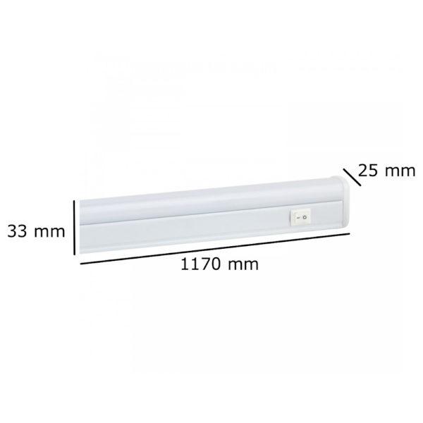 Tubo LED integrato 19W 1170cm  ON/OFF