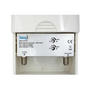 Amplificatore tv da palo UHF e VHF regolabile 1 IN 1 OUT