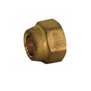 Bocchettone in ottone per tubo refrigerante 1-4 6,35mm