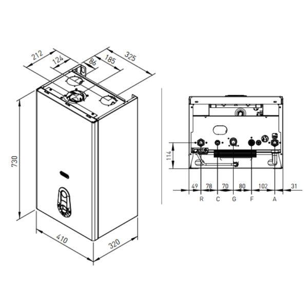 Caldaia a condensazione R1HR 24kw GPL R5 Radiant