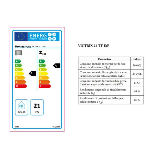 Caldaia a condensazione Victrix 32 TT ErP GPL – METANO Immergas