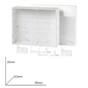 Cassetta per collettori con fondo 40x26x9.5 Arteclima
