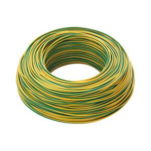 Cavo cordina unipolare 1,5mmq giallo verde FS17