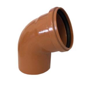 Curva 67° Ø110 PVC Con Guarnizione