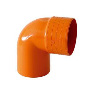 Curva MF 87° Ø80mm PVC Arancio