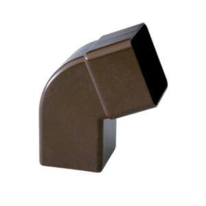 Curva Quadra 67° - 80mm Marrone