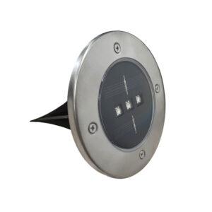 Faretto LED segnapasso a picchetto con sensore solare