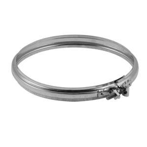 Fascetta bloccaggio acciaio INOX monoparete Ø 220mm