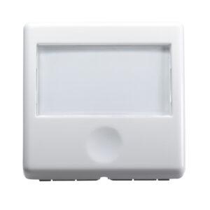 Gewiss pulsante con targhetta bianco GW20591
