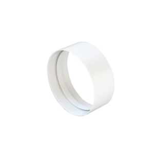 Giunto per tubo Ø100 di areazione bianco