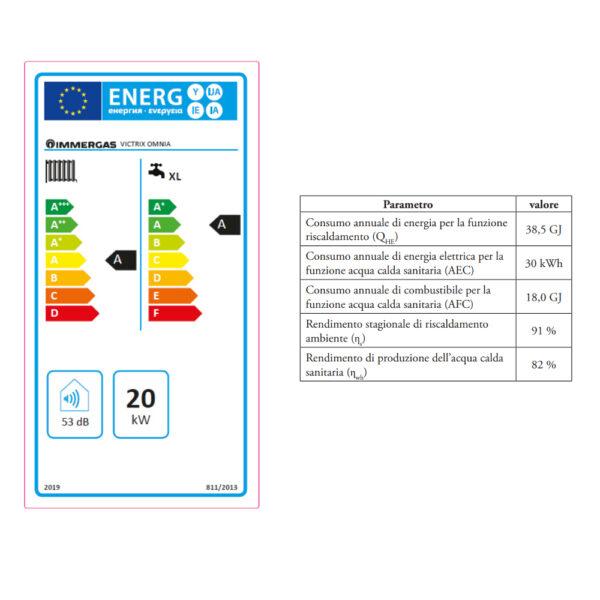 Caldaia a Condensazione Omnia 25 GPL – METANO Immergas
