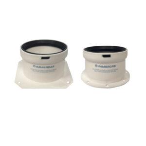 Immergas kit tronchetti flangiati 80 bianco 3.012087