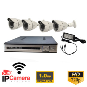 Kit NVR 4 Telecamere IP 720p 1MP WIFI