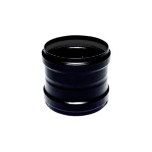 Manicotto FF acciaio nero Ø80