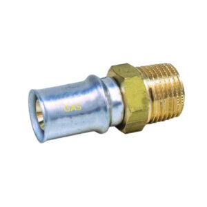"""Raccordo Filettato M 16mm – 1-2"""" GAS"""