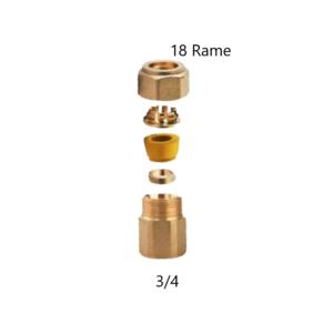 Raccordo dritto Gas femmina 3_4×18 Rame Arteclima