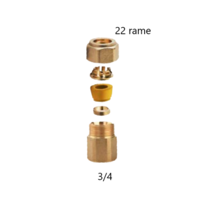 Raccordo dritto Gas femmina 3_4×22 Rame Arteclima