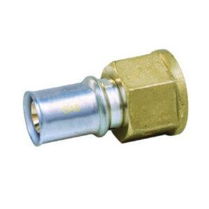 """Raccordo filettato F 20mm – 1-2"""" GAS"""