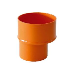 Riduzione MF Ø 80mm - Ø 63mm PVC Arancio