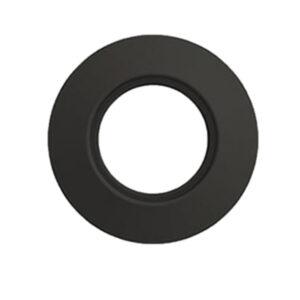 Rosone Nero Opaco 150mm