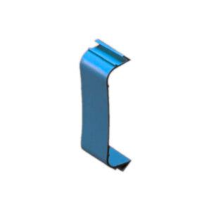 Supporto di bloccaggio per canalina 80mm x 60mm
