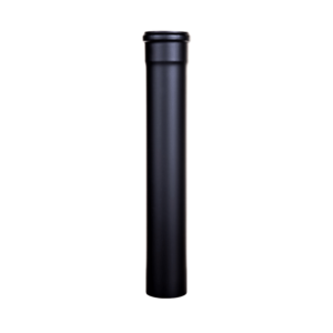 Tubo acciaio Ø100 nero opaco da 1mt