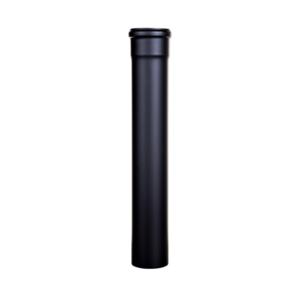 Tubo acciaio Ø80 nero opaco da 25cm
