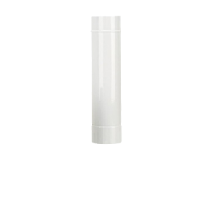 Tubo smaltato bianco Ø130 da 1 metro