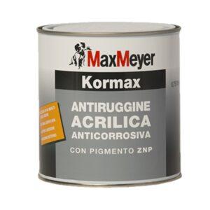 Vernice Antiruggine Acrilica All'Acqua per ferro Kormax 0.75Litri MaxMeyer