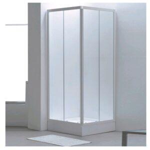 box doccia angolare bianco stampato vetro 3mm