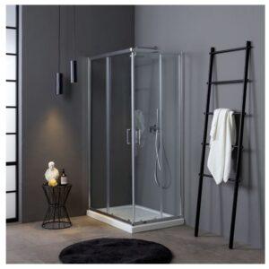 box doccia angolare trasparente