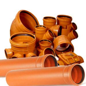 Tubi e Raccordi fogna in PVC Arancio