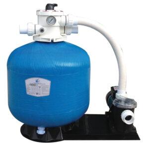 Gruppo pompa e filtro monoblocco argento 400 6,5 m3-h