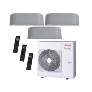 Condizionatore inverter trial WiFi 10000 + 10000 + 10000BTU Toshiba Haori-set completo UE 7,5kW