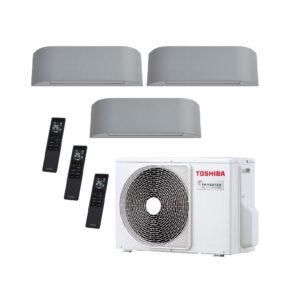 Condizionatore inverter trial WiFi 10000 + 10000 + 13000BTU Toshiba Haori-set completo