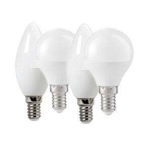 Set lampadine LED E14 a sfera a candela bianco freddo