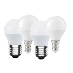 Set lampadine LED E27 E14 a sfera bianco caldo