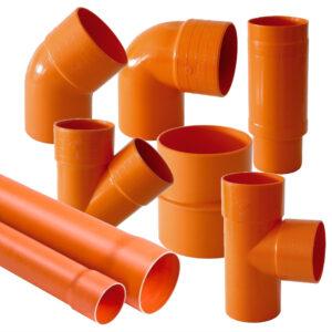 Tubi e Raccordi scarico in PVC Arancio